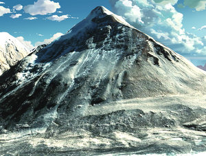 3D mountain landscape everest mount model