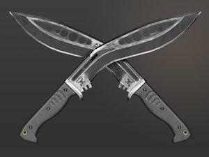 m48 kukri knife 3D model