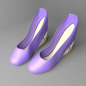 3D model high-heeled shoe 5