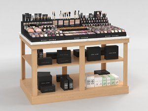 bobbi brown cosmetics stand 3D model