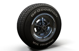 wheel rim tire 3D model