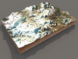 mountain landscape mount 3D model