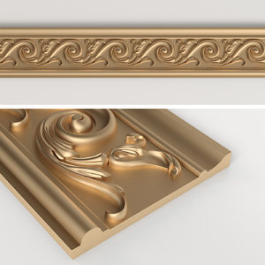 carved baguette cnc 3D