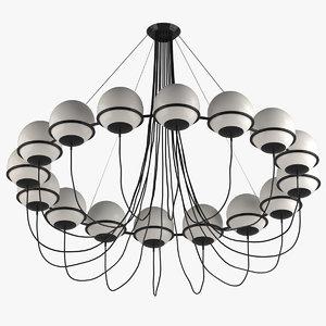 3D model chandelier 01