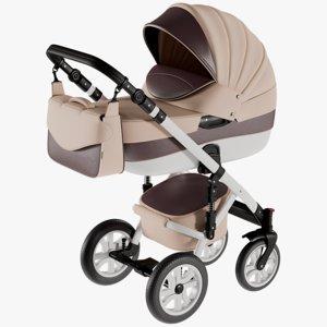 realistic baby stroller model
