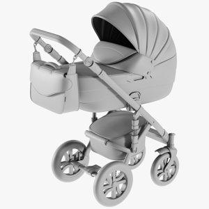 base mesh baby stroller 3D model
