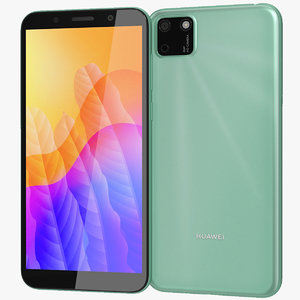 realistic huawei y5p green 3D
