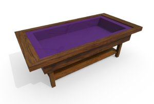 memory box coffee table 3D
