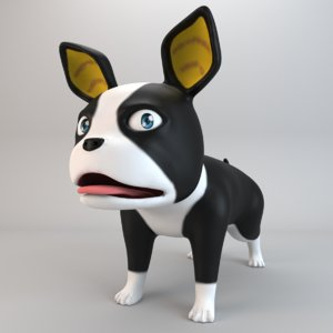 cartoon dog iggy 3D model