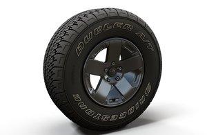 3D model offroad wrangler wheel rim
