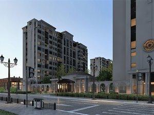 exterior scene modern city block model