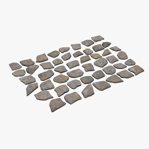 stepping stones 3D model