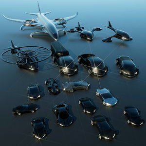 3D futuristic vehicles model