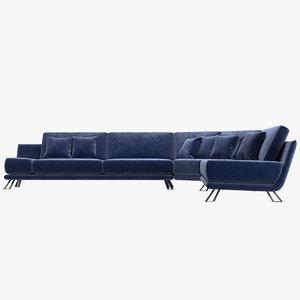 sofa sacha lakic 3D model