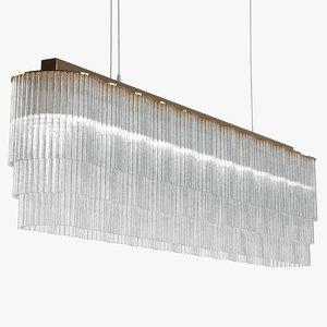 tom kirk linear chandelier 3D model