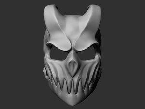 kid darkness mask printed model