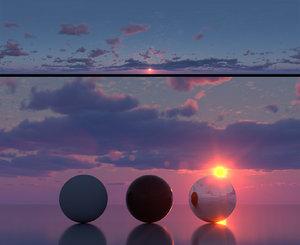 Skydome HDR - Hazy Dusk Sunset - 3