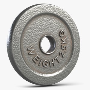 dumbbell weight plate 1 3D model