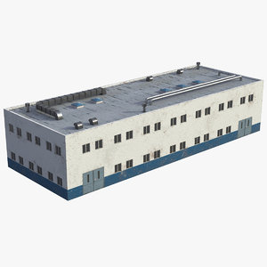 3D model industrial building unit