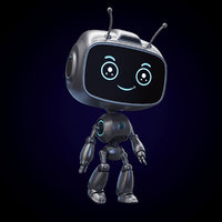 Cartoon Ant Droid RIGGED