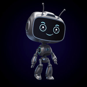sci-fi cartoon ant droid 3D model