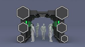 3D backdrop tunnel tv