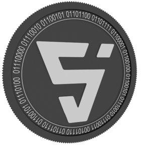 3D valor black coin model