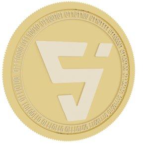 3D valor gold coin