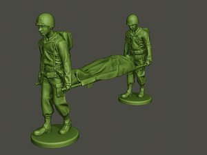 american soldiers ww2 carring 3D model