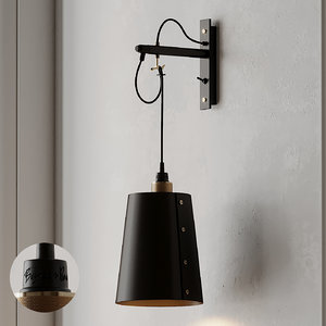 3D model hooked large wall light