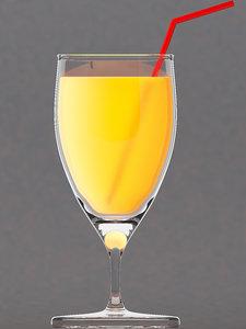 juice glass liquid 3D model