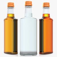 Glass Bottle 35cl. Alcohol bottle 0.35L. Brandy. Whiskey. Vodka.