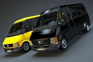 passenger van vehicle 3D model