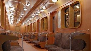 subway underground interior 3D