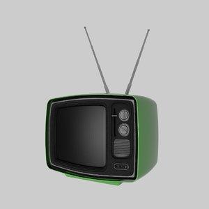 tv 60ies decoration 3D