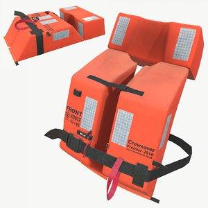 3D real-time crewsaver lifejacket model