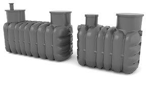 sewage treatment plants 3D model