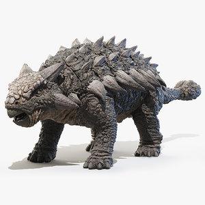 3D ankylosaurus