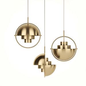 3D model hanging lamp month