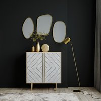 Sideboard with decor set