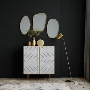 3D sideboard mirror model