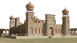 3D arabic palace architectural model
