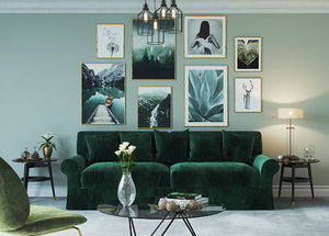 3D interior living room green model