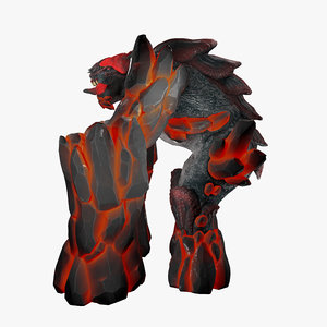 3D elemental creature rigged character model