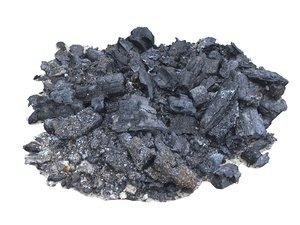 pile ashes 3D