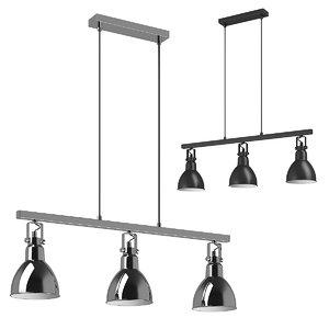 76113x acrobata lightstar hanging lamp 3D