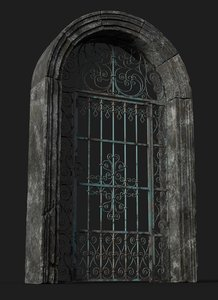 old forged gate model