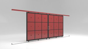 3D factory sliding door warehouses