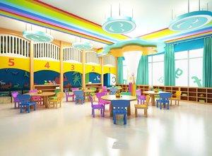 interior scene kindergarden room model