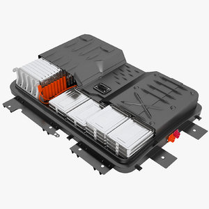 3D nissan leaf battery model